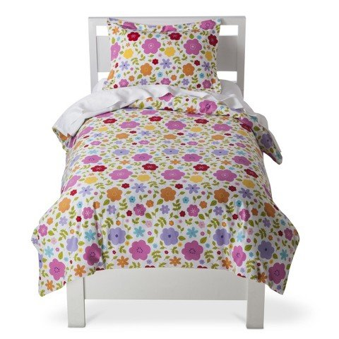Circo® Floral Flannel Duvet Cover - Twin - Bed Accessories - Toddler Bedding - Bedroom Collection - This Is Everyday Style That Makes Sense For Your Life And Your Home.