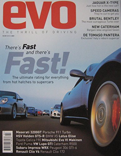 evo-magazine-03-2001-issue-29-featuring-subaru-imprezarenault-clio-v6mitsubishide-tomaso-lotus