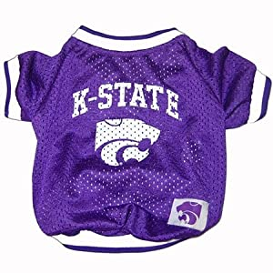NCAA Dog Clothing - Kansas State Wildcats Jersey Medium by Pets First