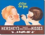 Tin Sign Hershey Kisses.