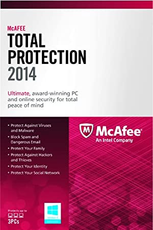 McAfee Total Protection 3PC 2014 (free upgrade 2015 / 2016 )