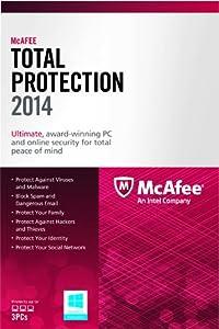 (1.2折)McAfee Total Protection 3PC 2014 麦克菲全面安全保护3用户$9.99