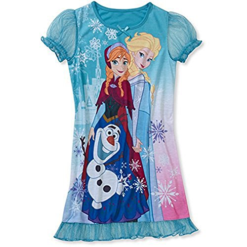 Disney Frozen Elsa, Anna And Olaf Nightgown (S 6/6X) front-91243