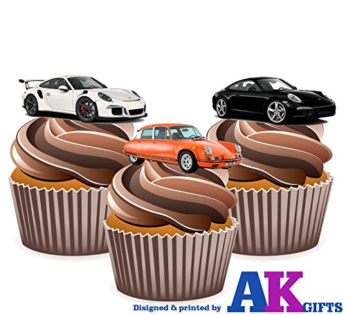 porsche-sports-car-mix-cake-decorations-12-edible-wafer-cup-cake-toppers