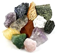 Crystal Allies Materials: 3 Pounds (BEST VALUE) Bulk Rough 10-Stone Assorted Brazilian Mix w/…