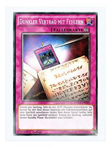 DOCS-DE069 Dunkler Vertrag mit Fehlern 1. Auflage im Set mit original Gwindi Kartenschutzhülle