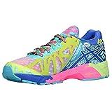 ASICS Womens GEL-Noosa Tri 9 Running Shoe (8.5 B(M) US, Iridescent/Blue/Green)