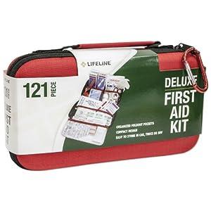 Lifeline 121 Piece First Aid Kit (Red) by Lifeline