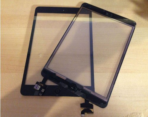 ipad miniタッチパネル(フロントガラスデジタイザ) 液晶パネル ICチップ+ホームボタン iPad Mini Touch Screen Digitizer Complete Assembly With IC Chip & Home Button replacement
