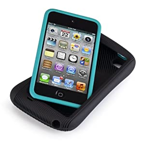 Speck Products DualFlex 1UP Case for iPod Touch (Black/Peacock Blue)