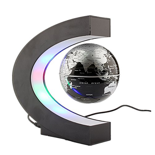 FUNNY C字状 磁気浮上 世界地図LEDライト 地球儀  ZJchao(TM)社【並行輸入】