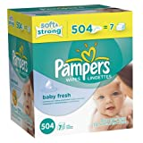 Health & Beauty Online Shop Ranking 10. Pampers Softcare Baby Fresh Wipes 7x box, 504 Count