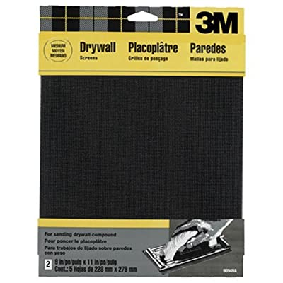3M 9094DCNA Drywall Sanding Screen, 9 in by 11 in, 2 -Sheet Medium-Grit