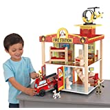 KidKraft Fire Station Set (Color: Multi, Tamaño: 16Lx16Wx17.76H)