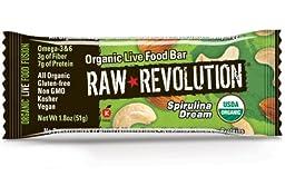 Raw Revolution Organic Live Food Bars, Spirulina Dream, 1.8-Ounce Bars (Pack of 12)