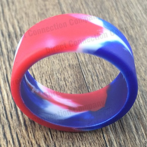 Tank Bands 21mm Silicone Tank Band Ring Bumper 21 COLORS AVAILABLE (4-PACK (RED/WHITE/BLUE)) (Tank Band compare prices)