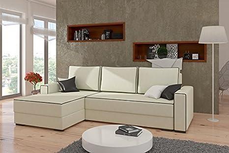 Divano ad angolo Bernard con Funzione letto Funzione sleep Interni casa divano 01779 - Colore come mostrato, Ottomana sx