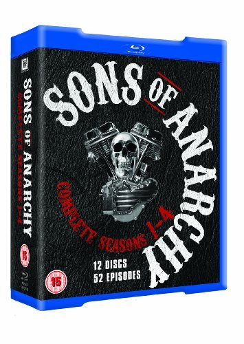 Sons of Anarchy (Complete Seasons 1-4) - 12-Disc Box Set ( Forever Sam Crow ) [ Blu-Ray, Reg.A/B/C Import - United Kingdom ]