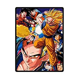 Sysuser Japanese Anime Cartoon Dragon Ball Super Saiyan Custom Blanket 58x80 Inch Creative Cotton Blanket Indoor / Outdoor Blanket
