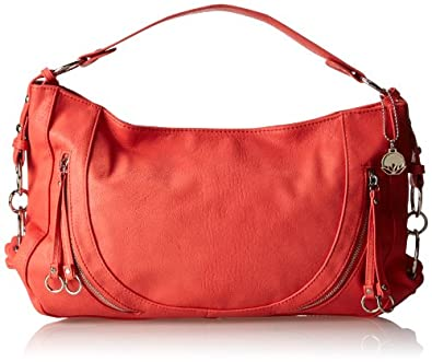 BIG BUDDHA Jweston Shoulder Bag,Coral,One Size