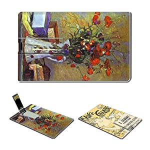 4GB USB Flash Drive USB 2.0 Memory Credit Card Size Pierre Bonnard Poppies+Poster advertising