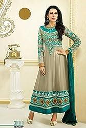 Shree Khodal Women's Grey Georgette Dress Material [SK_JCN1028_D]