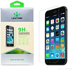 Lention Tempered Glass for Apple iPhone 6 Plus & Apple iPhone 6S Plus 2.5D Arc Edge to Edge Full Screen Coverage