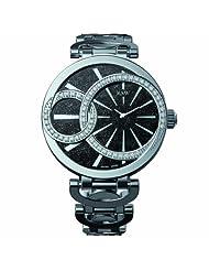 RSW Women's 6025.BS.S0.1.D1 Wonderland Round Black Dial Stainless Steel Diamond Watch