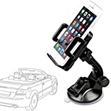 Etekcity® 360° Universal Car windshield Mount Dashboard Cradle Holder for GPS iPhone 6 5S 4S Samsung Galaxy mobile phone CD Slot Dock Dash Cell Holder