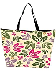 Snoogg Seamless Floral Pattern Abstract Background Waterproof Bag Made Of High Strength Nylon - B01I1KJQN2