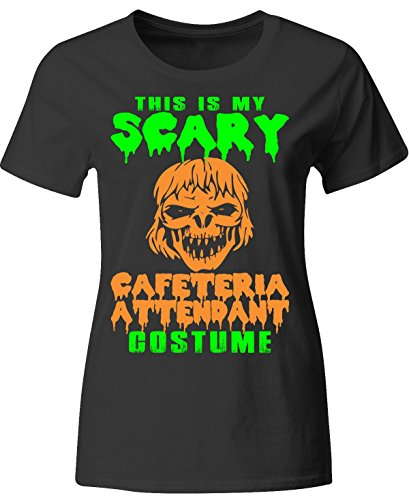 This Is My Scary Cafeteria Attendant Costume Halloween - Ladies T-shirt (2)