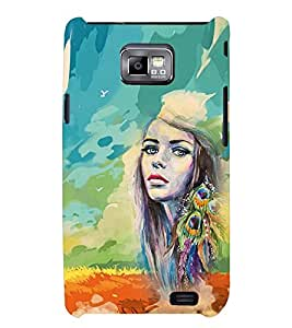 PRINTSWAG PAINTED GIRL Designer Back Cover Case for SAMSUNG GALAXAY S2