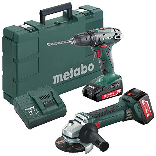 Metabo-Combo-Set-18-V-Akku-Bohrschrauber-BS-18-Akku-Winkelschleifer-W-18-LTX-125-Quick-1-Stck-685082000