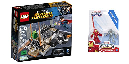 LEGO Super Heroes Clash of the Heroes 92 Pcs & free Gifts Super Hero Adventures Iron Man and Ultron Figures (Colors may vary) Toys