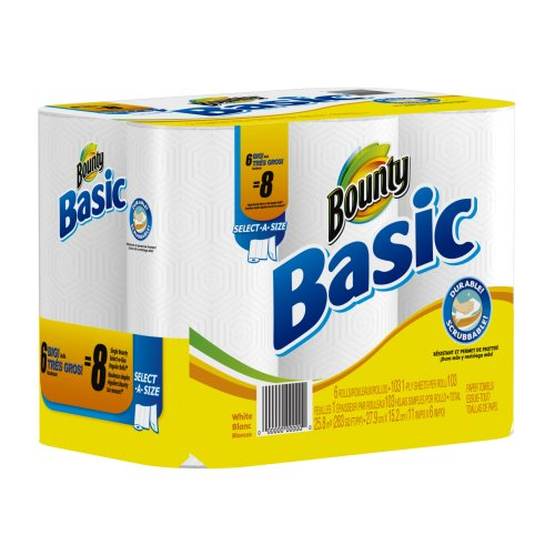Amazon.com: Basic Paper Towels 6 Select-A-Size Big Rolls: Health & Personal Care