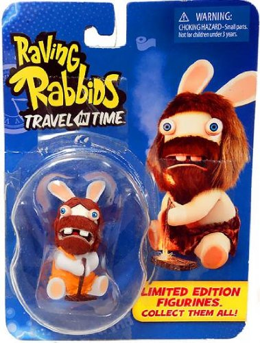 "Raving Rabbids ""Travel in Time"" Collectible Figurine - ""Cave Man"""