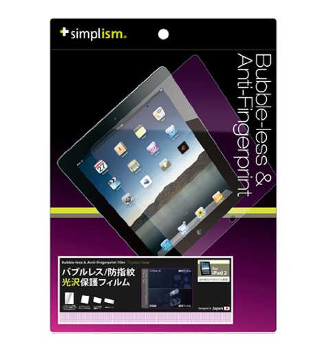 Simplism Japan Bubbleless & Anti-Fingerprint Film iPad 2 - Crystal Clear (TR-PFIPD2-BLCC/EN)