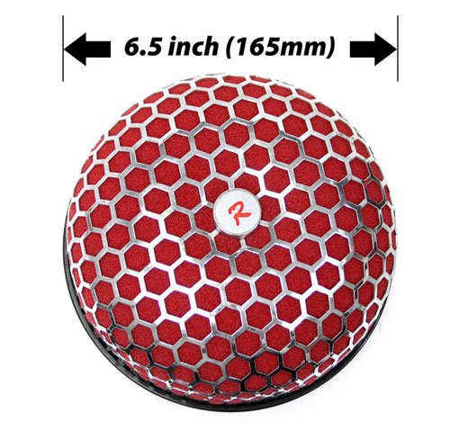 """3"""" 76Mm Red Universal Mushroom Cone Air Intake Filter front-463862"""