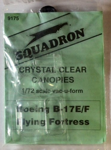 Squadron Products B-17E/F Flying Fortress Canopy Set