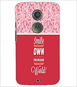 PrintDhaba Quote D-3292 Back Case Cover for MOTOROLA MOTO X2 (Multi-Coloured)