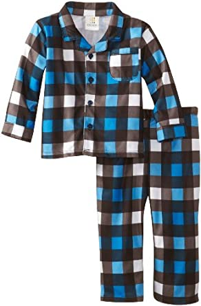 ABSORBA Baby-Boys Infant Pajama Set, Plaid, 18 Months