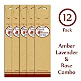 Panchratan Perfumed Charcoal Incense Sticks ( Pack Of 12, 23cms, Amber, Lavender And Rose Fragrance )