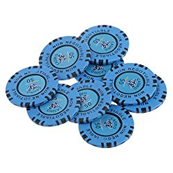 Magideal 50 Par Value 45Mm Non Negotiable Diamond Clay Casino Fun Blue Chips