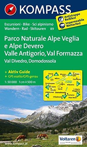 Carta escursionistica n. 89. Domodossola. Adatto a GPS. DVD-ROM. Digital map