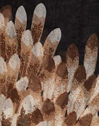 VB Woman's Scarf, elegant - exotic feather-pattern