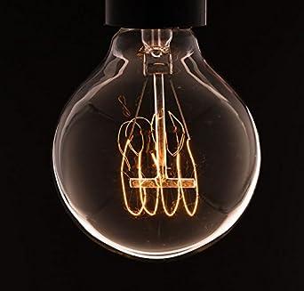 Vintage lampadina - globo medio con anello filamento ( vecchio Edison ) Vite E27: Amazon.it ...