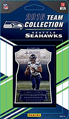 Seattle Seahawks 2016 Donruss NFL Football Factory Sealed Limited Edition 14 Card Complete Team Set with Russell Wilson, Doug Baldwin, Legend Steve Largent & Many More! Shipped in Bubble Mailer!