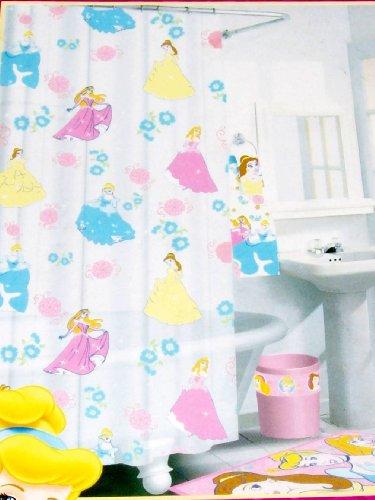 Disney Princess Vinyl Bathroom Shower Curtain 70