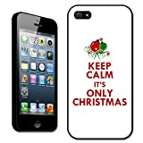 Fancy A Snuggle Keep Calm it's Only Christmas Clip On Back Cover Hard Case for Apple iPhone 5