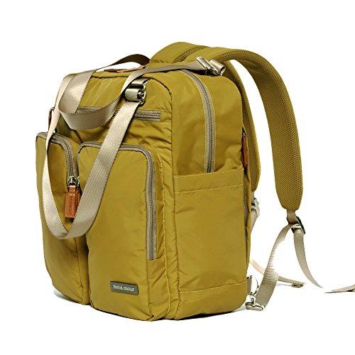 bebamour travel backpack diaper bag tote handbag purse dark yellow diaper supplies direct. Black Bedroom Furniture Sets. Home Design Ideas